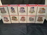 Lot of 10 Vintage 1993-1994 The Americana Collection Liberty Village Figurines