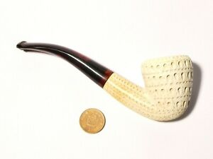 Vintage 20thC Patterned Hand Carved Meerschaum Smoking Pipe #16