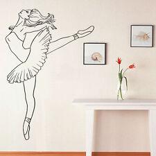 Wall Room Decor Art Vinyl Sticker Mural Decal Ballet Dance Women Ballerina FI394