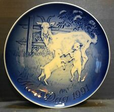 New ListingBing Grondahl Mother's Day 1991 Nanny Goat Kids Plate