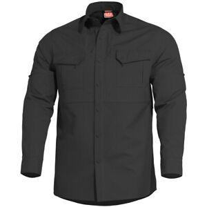 Pentagon Plato Tactical Shirt Mens Long Sleeve Military Combat Airsoft Black