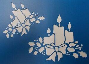 Scrapbooking - STENCILS TEMPLATES MASKS SHEET - Christmas-Candles Stencil