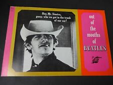 BEATLES Magazine [out of the mouths of BEATLES ] FREE SHIPPING