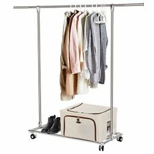 lifewit rolling clothes rack heavy duty garment rack adjustable with shoe shelf