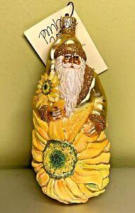 Patricia Breen Gerbera Sunflower Santa Van Gogh Yellow #2109 Signed Tag NWT