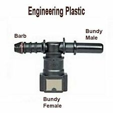 "Fitting Quick Connector Bundy Tee 1/4"" Barb to 5/16"" Female Male Fuel Gas S-@M5"