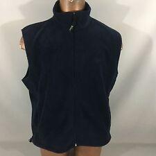 Woolrich Men's Deep Navy 100% Polyester Fleece XL Sleeveless Zipper Vest