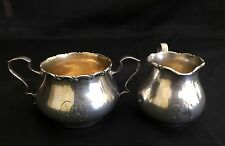 Solid Sterling Silver Creamer and Sugar by Whiting, 133 Gams, Pattern # 3623