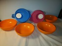 TUPPERWARE CRYSTALWAVE 2pc Mugs plus 4 Cereal Bowls Lot
