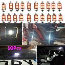 10x 39mm 4014 12SMD C5W LED Festoon Dome Car Interior Reading Light Lamp