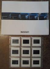 Gamma MASERATI 1998 Prestige media BROCHURE + diapositive - 3200 GT Quattroporte Evo