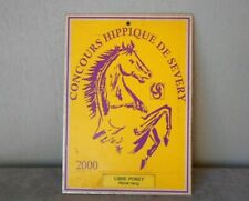 "2000 French metal Equine award YELLOW Plaque Sign 6.75"" H"