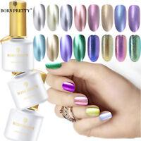 BORN PRETTY 6ml Metallic Gel Nail Polish UV LED Holographic Mirror Base Top Coat