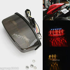Motorcycle Smoke LED Tail Light With Turn Signals For Ducati Monster 400 600 620