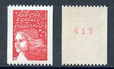 TIMBRE FRANCE NEUF N° 3084a ** MARIANNE DE LUQUET / ROULETTE N° ROUGE AU DOS
