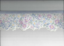 WALLPAPER BORDER DIE CUT DIECUT FLORAL FLOWERS BLUE