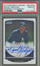 PSA 10 2013 BOWMAN CHROME PROSPECT AUTO MIGUEL ANDUJAR  ROOKIE (RC) LOW POP 37!