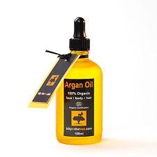 PURE ARGAN OIL 100% Organic 100ml (100% Pure  argan Oil) . Face. Body. Hair.