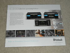 McIntosh C1000 Tube Preamp Original Brochure, 2 sides, Specs, Articles, Info