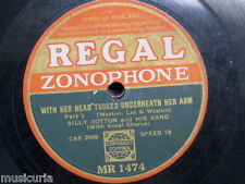 78rpm BILLY COTTON with her head tucked underneath her arm , pt1&2