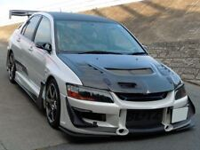 FOR MITSUBISHI EVO 7 8 9 EVOLUTIO VIII IX HEADLIGHT EYELIDS (ABS WHITE)