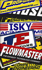 Moroso Dart Comp Cams Mancave NASCAR 18 Race Car Size Decals Stickers Tool Box