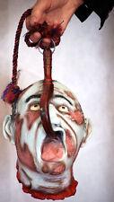 Larp-medieval-cosplay rompu Horreur Zombie Latex Tête Gory prop très réaliste