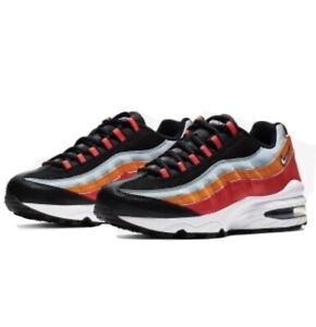 Nike Air Max '95 Size 4Y Black/White/Multicolor (905348-031) Kid Shoes Fast Ship