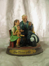 1991 Norman Rockwell Love Cures All Figurine Gem of Wisdom's Collection
