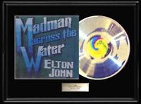 ELTON JOHN MADMAN ACROSS THE WATER RARE WHITE GOLD PLATINUM TONE RECORD VINYL