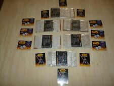 6 FULL SETS OF SILVER COLOURED MEDALLIONZS COINS STAR WARS  R.O.T.S