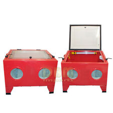 80 PSI Portable Abrasive Sand Blast Blaster Cabinet Bench Top FREE SHIPPING
