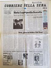 CORRIERE DELLA SERA 5 APRILE 2000 - MORTO IL SUPERPENTITO TOMMASO BUSCETTA