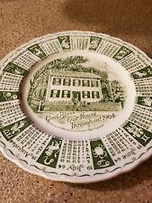 Vintage God Bless Our House Through 1964 Calendar Plate Abraham Lincoln Royal St
