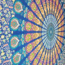 Indian tapestry hippie mandala wall hanging Bohemian King Size dorm decor throw