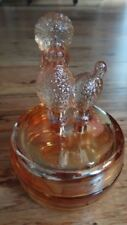 Vintage Depression Era Carnival Glass Poodle Powder Dish