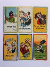 Lot of 6 1906 T88 Sweet Caporal Cigarettes Mutt & Jeff Color Tobacco Cards