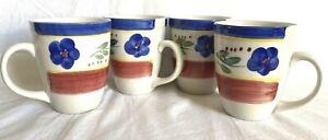 Miso Italian Hand Painted Coffee Mug ~ Set Of 4