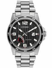 Citizen AW7030-57E Mens Eco-Drive Sport Stainless Steel Black Dial Watch