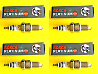 New SET OF 4 BOSCH Platinum Spark Plugs - 4034 Made in Germany