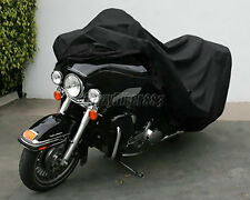 XXXL ALL Black Motorcycle Cover Fit Honda Gold Wing GL 1000 1100 1200 1500 1800