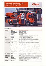 Mercedes Atego Metz 2014 catalogue brochure Pompiers Fire Truck Feuerwehr