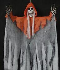 Hooded Skeleton Skull Halloween Hanging Ghoul Decoration Prop Shop Horror