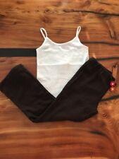 Gymboree Girls' White Tank & Brown Sweet Treats Pants 5/6 NWT GYM9