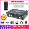 800W Car Home Digital Amplifier HIFI Bluetooth Stereo Audio AMP FM MP3 AUX US#