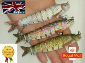 PIKE LURE13.5cm fishing MULTI JOINTED SWIM BAIT perch bass predator