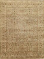 Vegetable Dye Agra Traditional Floral Hand-knotted Oriental Area Rug Wool 8'x10'