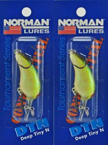 (LOT OF 2) BILL NORMAN DEEP TINY N DTN 1/8OZ DTN-140 GREEN JOE I2223