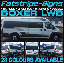 PEUGEOT BOXER L3 LWB MOTORHOME VINYL GRAPHICS STICKERS DECALS STRIPES CAMPER VAN
