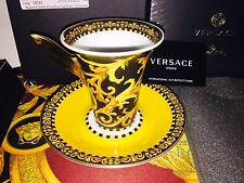 VERSACE BAROCCO CUP SAUCER SET ROSENTHAL AUTHENTIC NEW IN BOX 300$ SALE